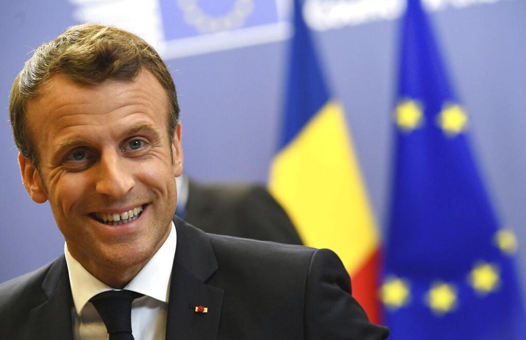 法國總統馬克龍。AP