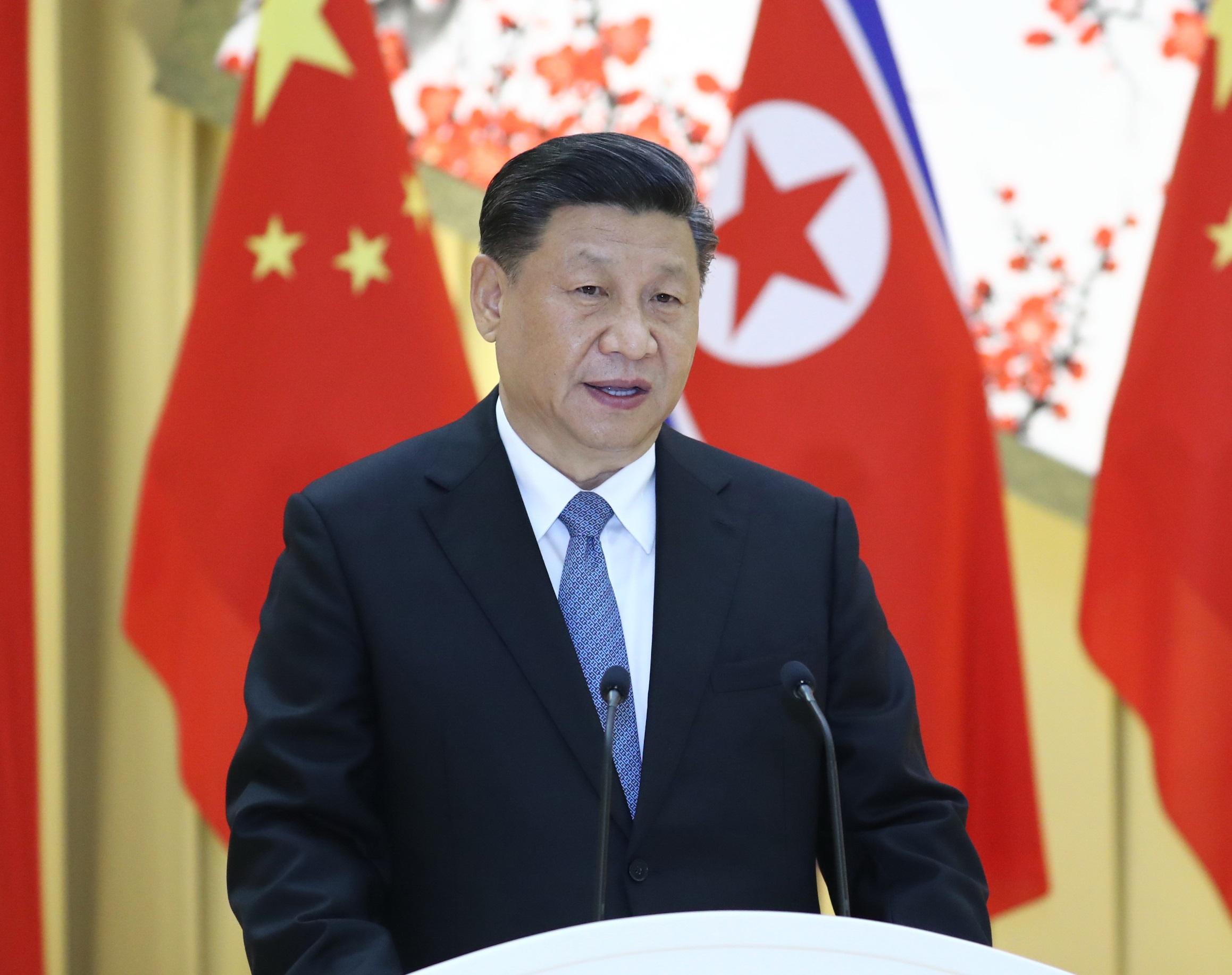 習近平結束訪問北韓行程。新華社圖片