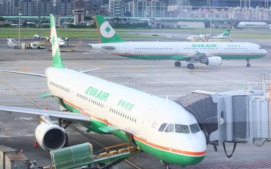 長榮航空周六取消117個航班。網上圖片