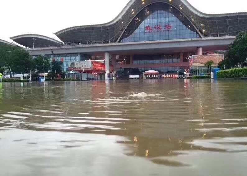 武漢嚴重水浸。網上圖片