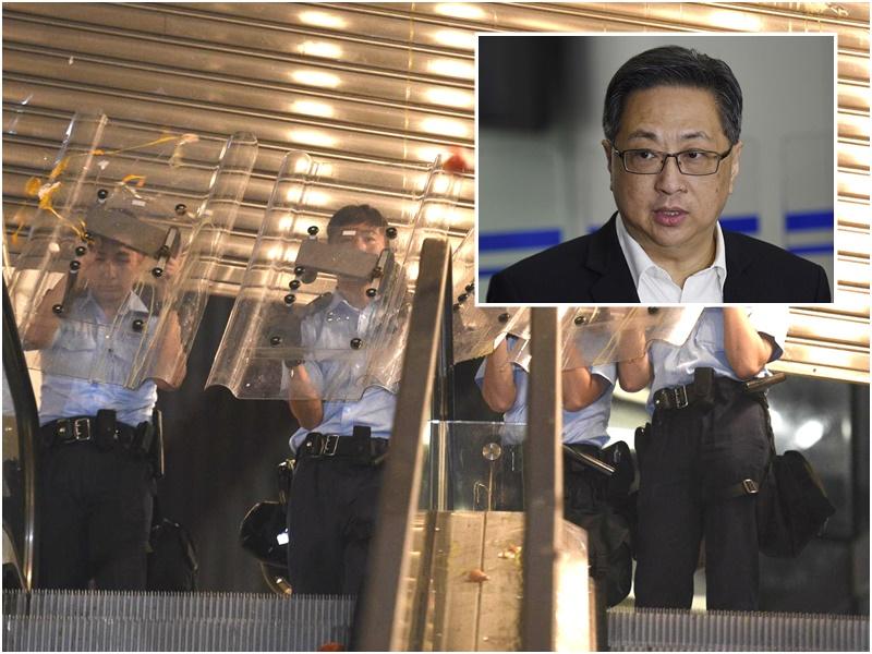盧偉聰指明白警員長時間執勤和面對挑釁及嚴重暴力威脅。