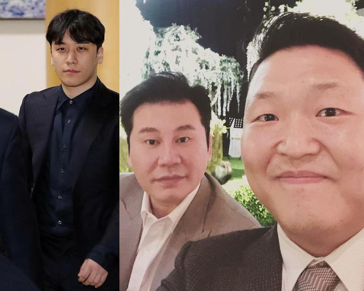 勝利和梁鉉錫都因夜店醜聞事件退下,Psy亦涉其中助查。(資料圖片)