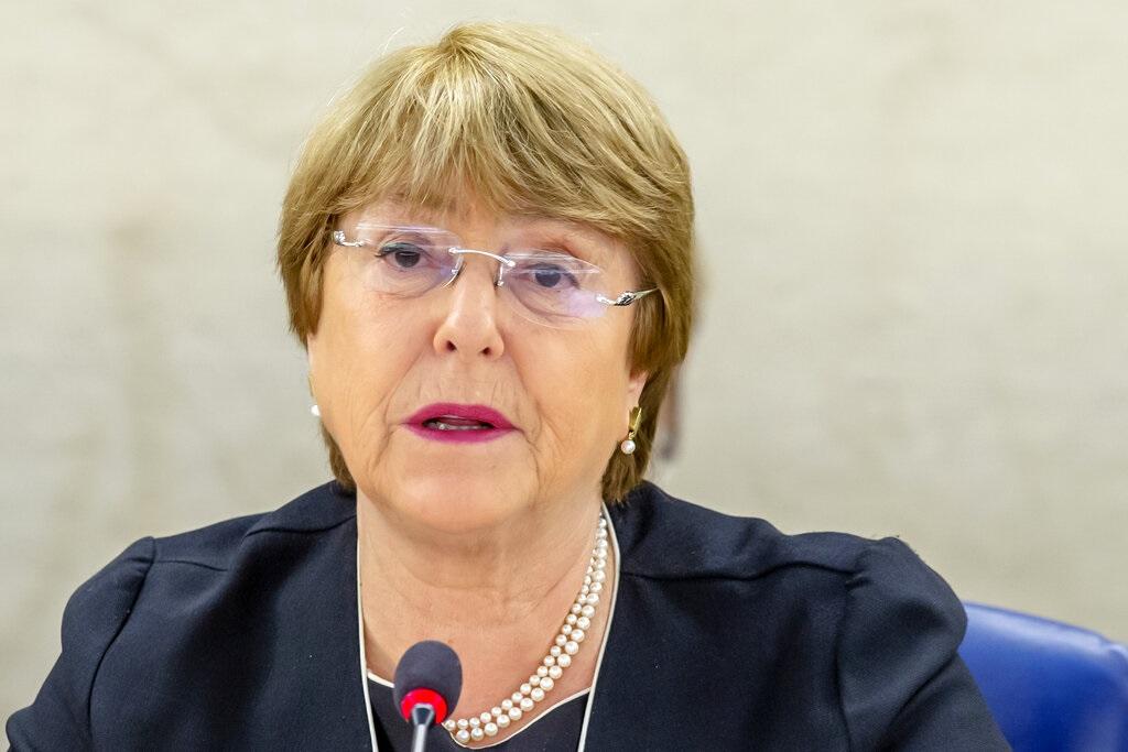 聯合國人權事務高級專員巴切萊特。AP