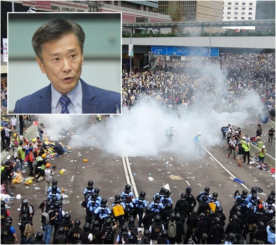 姚思榮指如果激烈衝擊持續會損害旅客來港信心。資料圖片