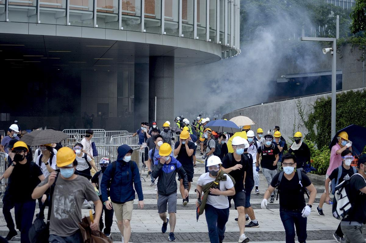 本港6月12日爆發大規模示威。資料圖片
