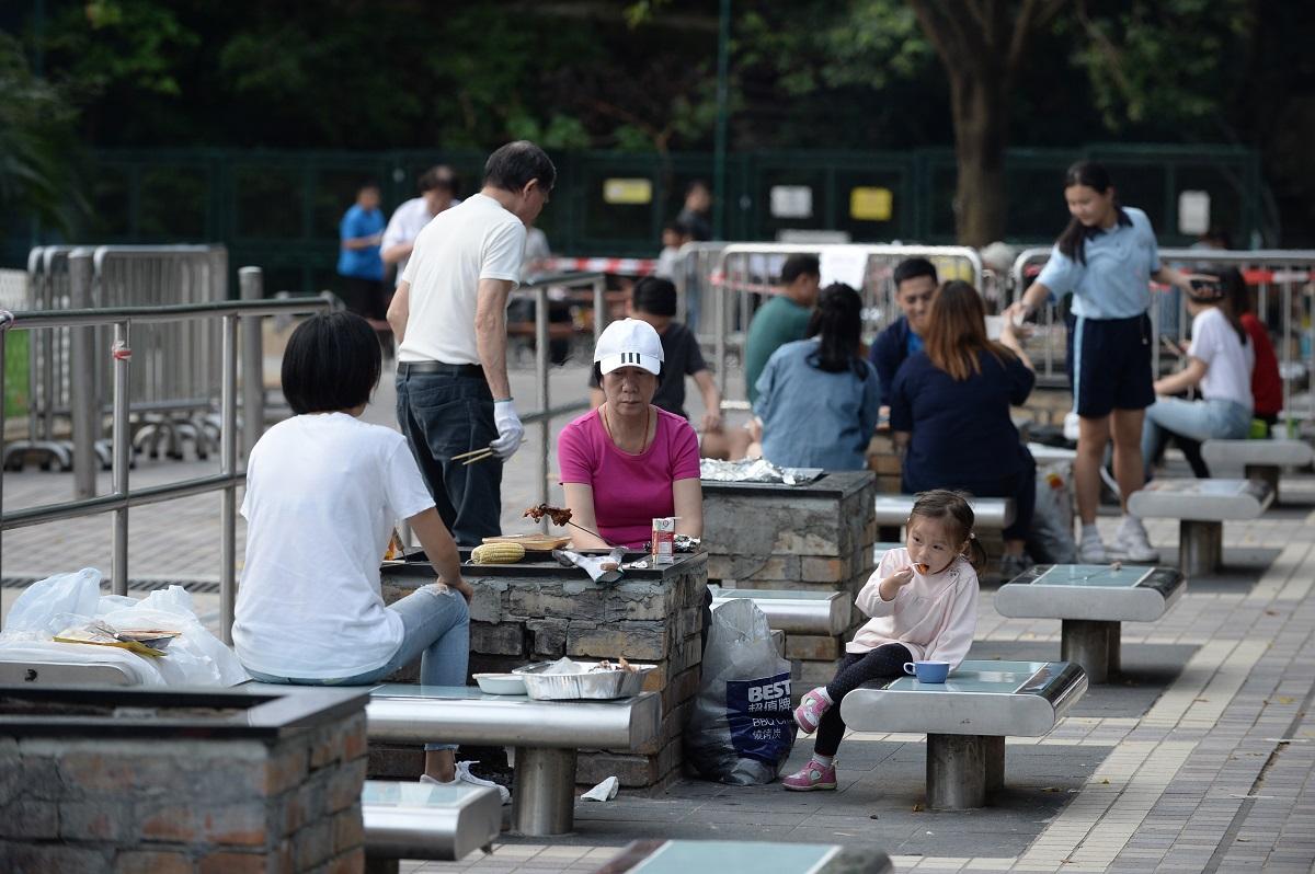 市民去郊野公園燒烤的比例明顯下降。資料圖片