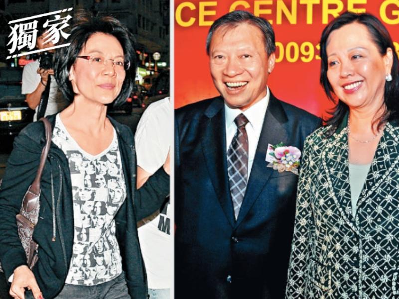 郭炳湘女友唐錦馨(左)郭炳湘妻子李天穎(右)
