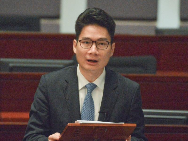 財庫局副局長陳浩濂。資料圖片