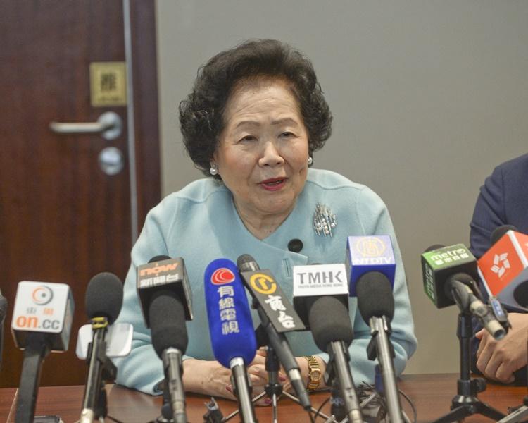 陳方安生認為不存在外國勢力干預香港事務。 資料圖片