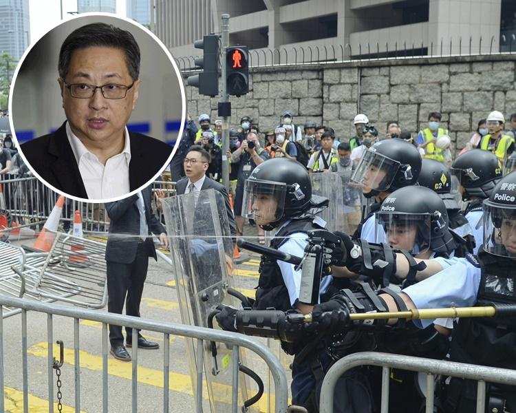 盧偉聰表示知道612事件對警員士氣的影響。