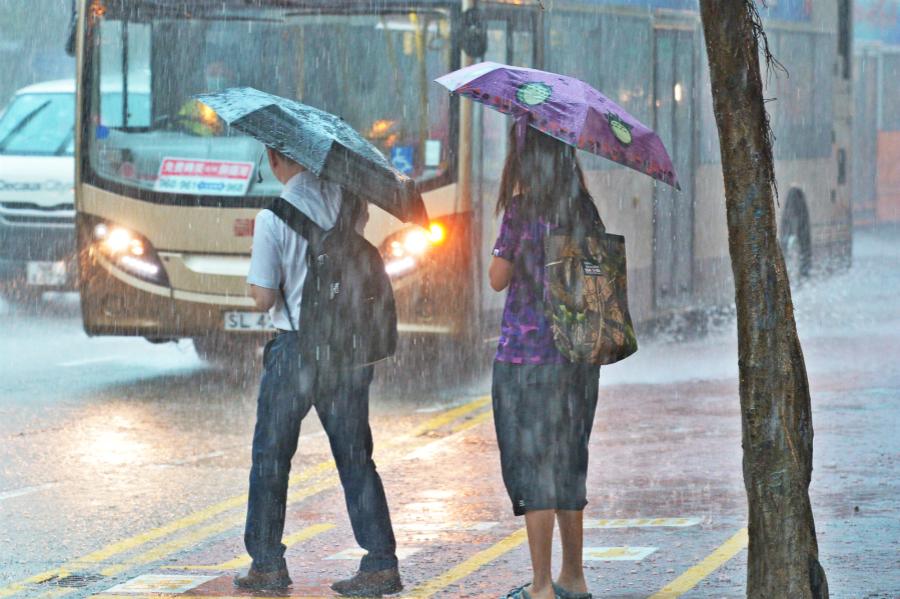 黃色暴雨警告已經取消。資料圖片