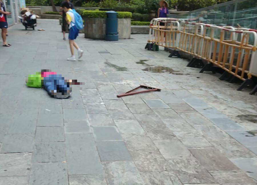 鐵架砸死女途人。