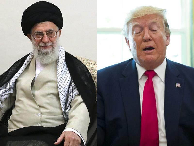 國白宮周一宣布對伊朗最高精神領袖哈梅內伊和8名軍方高級將領實施制裁措施。AP圖片