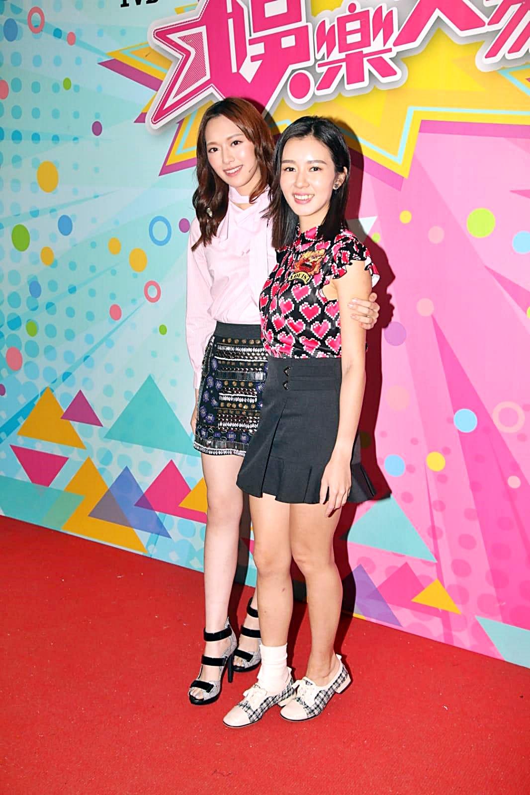 馮盈盈及麥明詩出席節目錄影。