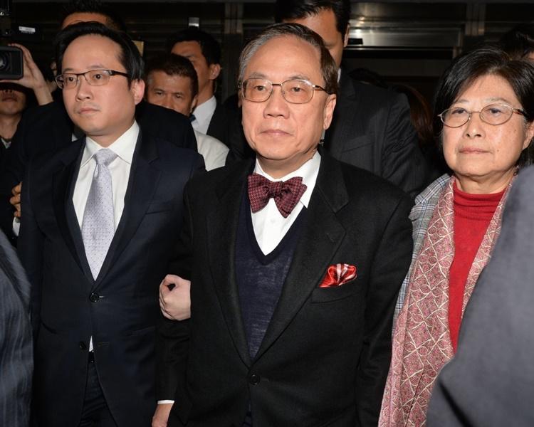 曾蔭權表示,多謝家人及朋友等一直對他的支持及鼓勵。