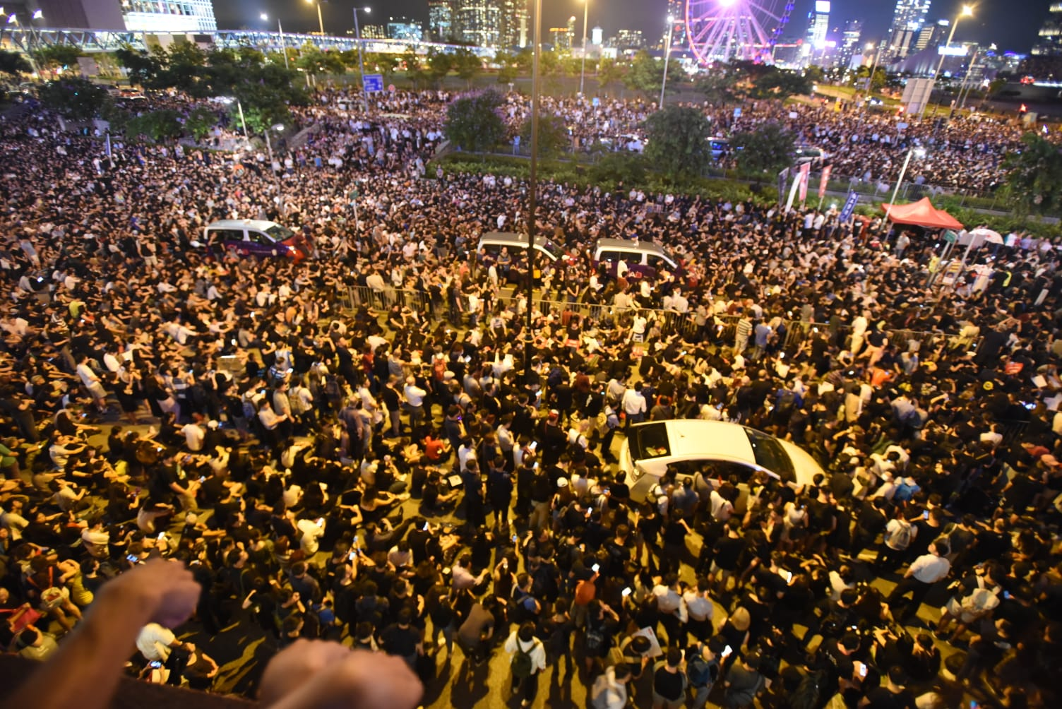 民陣今晚也有舉辦集會。