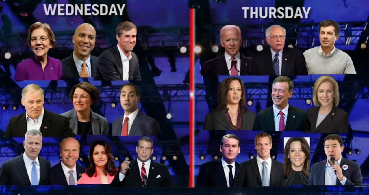 另外10名參選人周四晚上進行另一場辯論。網圖
