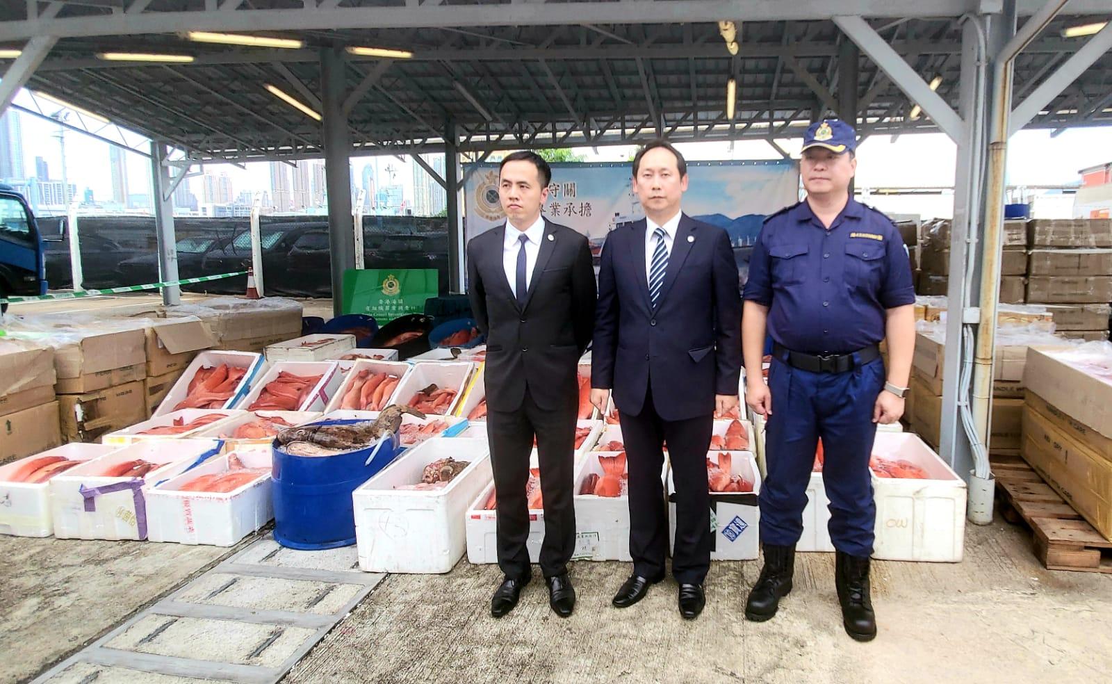 首破貴海鮮走私集團 海關檢100萬元冰鮮魚拘8男
