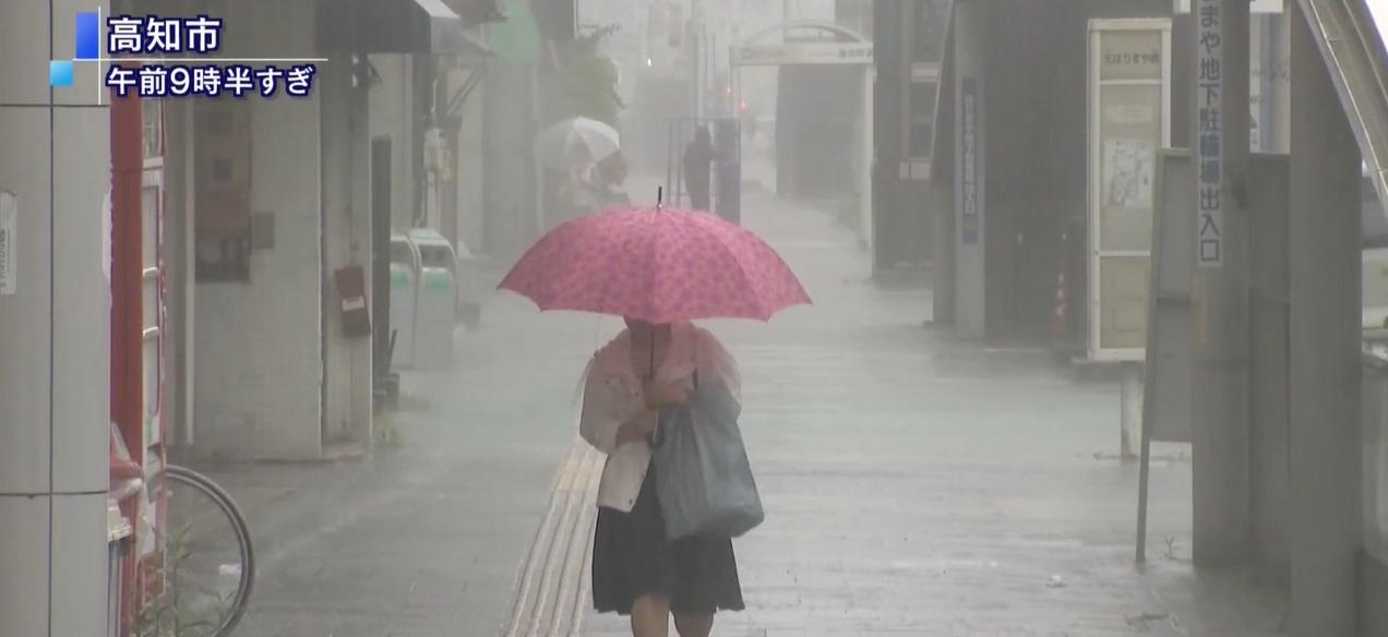 日本西部多處已經出現狂風大雨。網上圖片