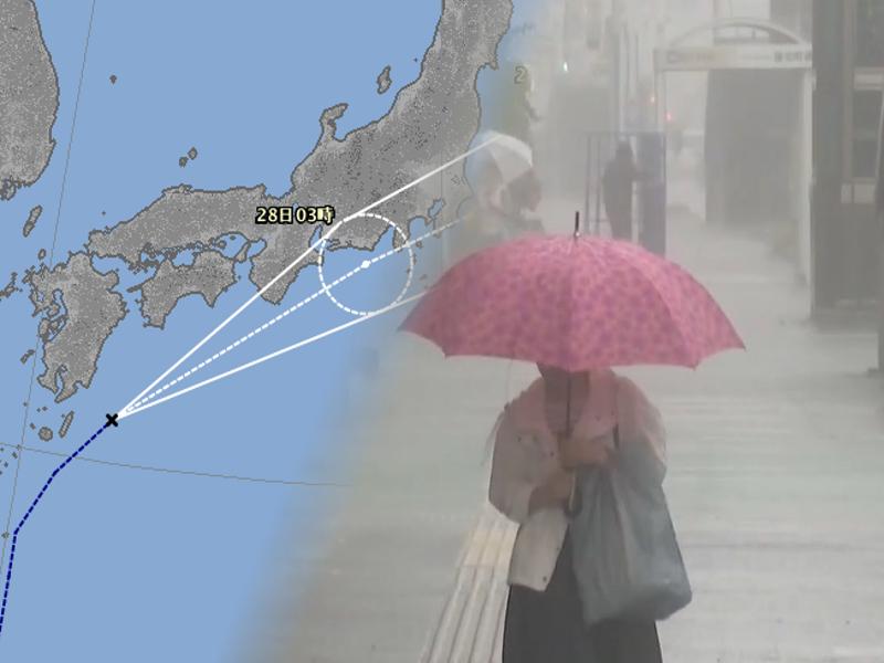 受風暴影響日本多地狂風大雨
