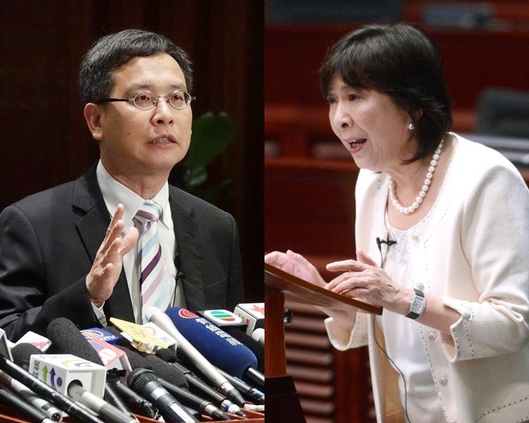 葉建源(左);蔣麗芸(右)。 資料圖片