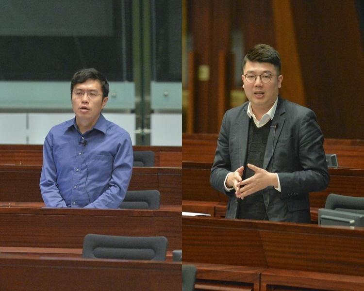 區諾軒(左)及劉國勳(右)。資料圖片