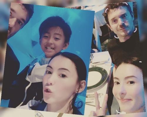 張栢芝携3子遊新加坡 晒疑似細仔英籍生父合照