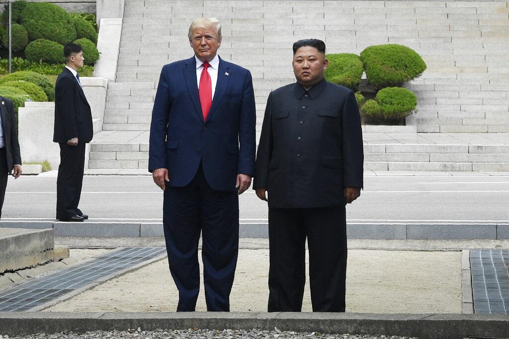 特朗普是歷來首位美國在任總統踏足北韓領土,AP圖片
