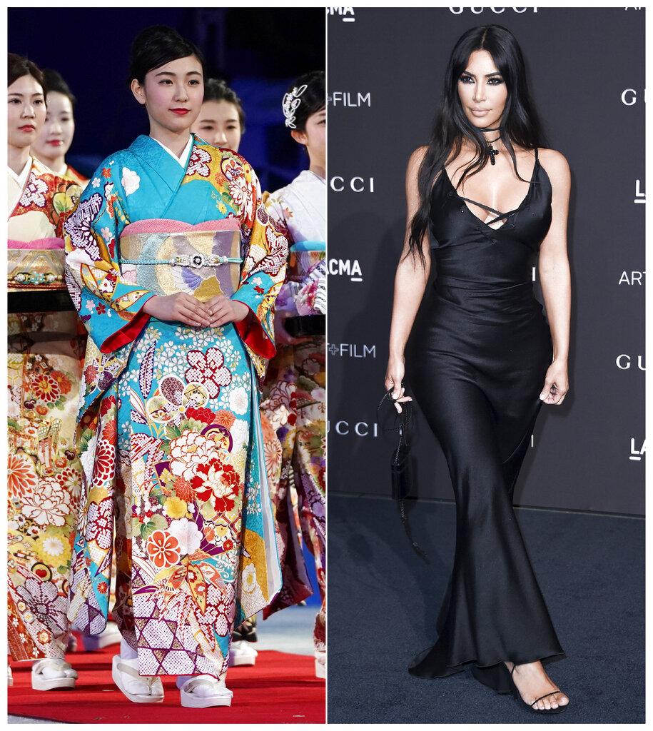 Kim Kardashian將塑身內衣品牌取名Kimono(和服),觸怒日本網民。AP