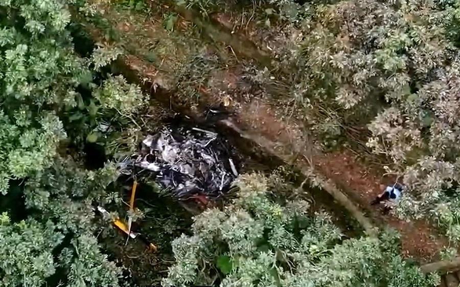 嘉道理農場直升機墜毀。資料圖片