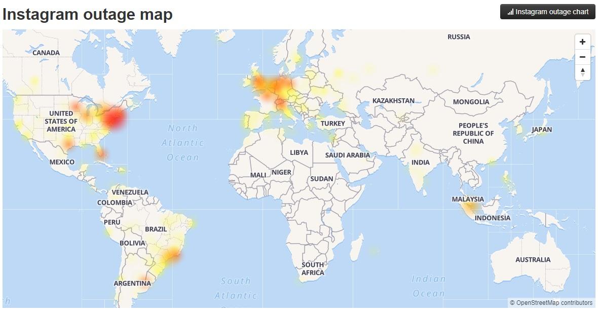 社交網站FB與IG也是全球大規模故障。網上圖片