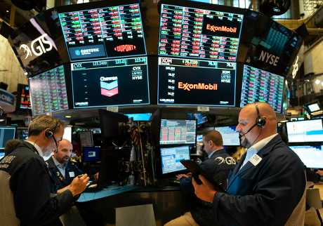 美股三大指數下跌。AP