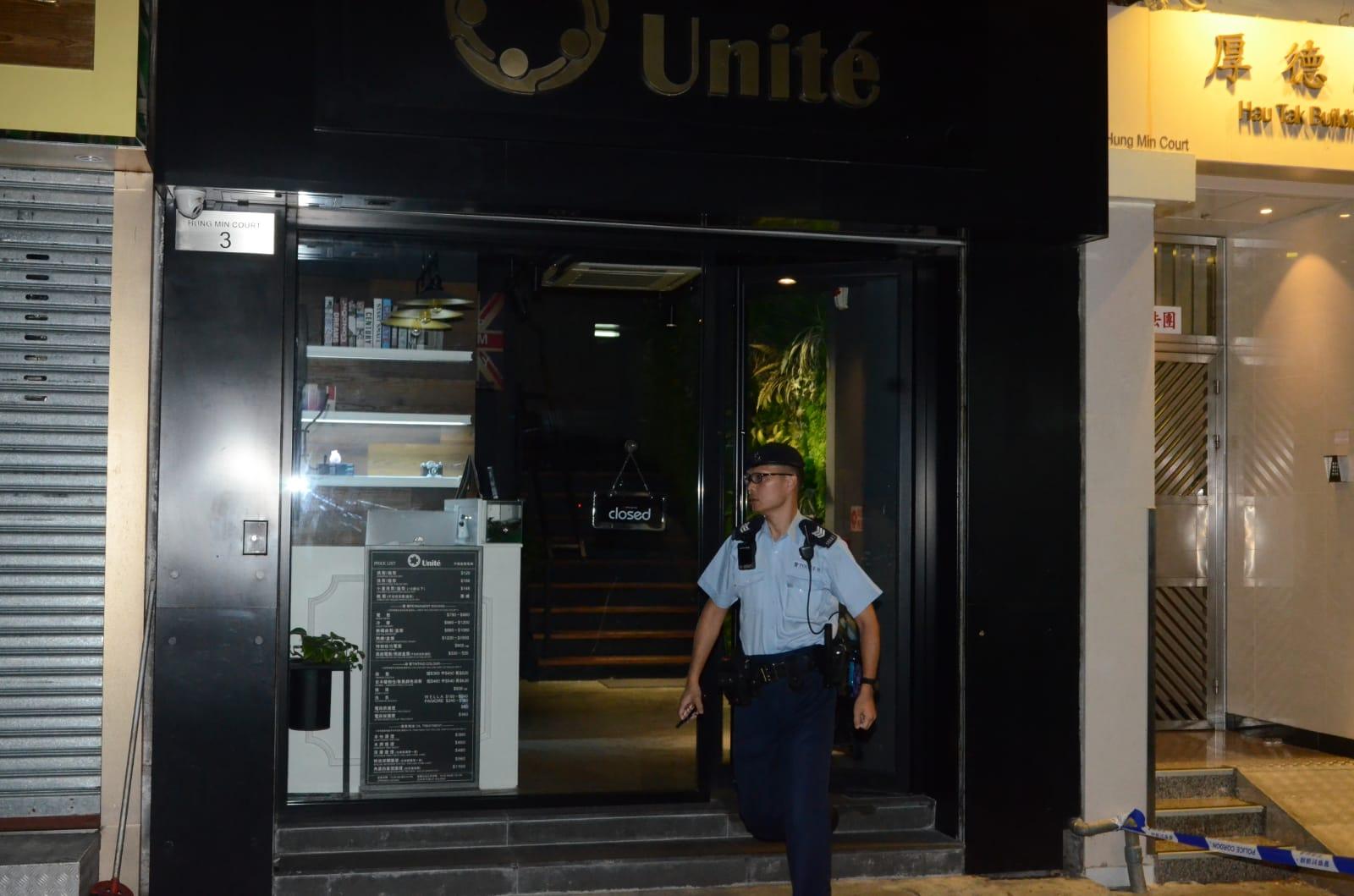 警方封鎖現場。