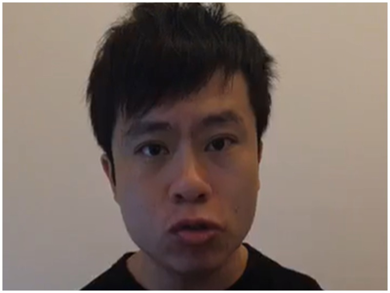 鄺俊宇今在facebook讚一名白衣警人性化清場。鄺俊宇facebook截圖