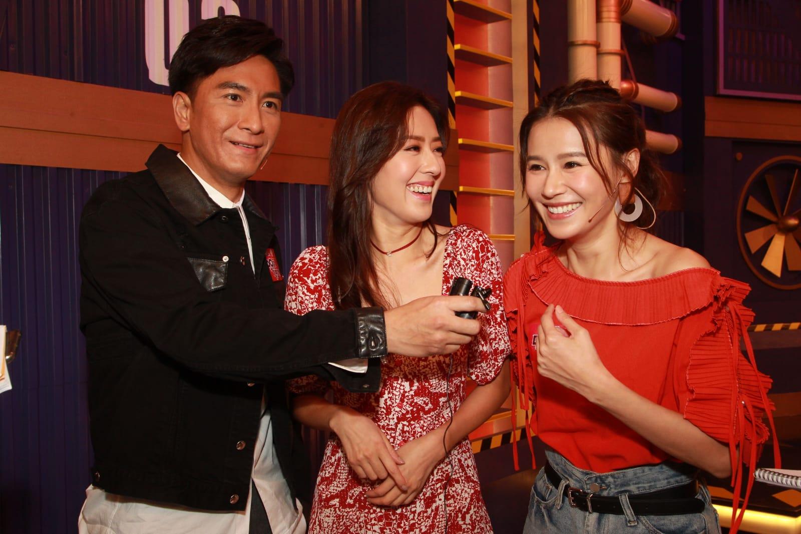 馬國明、唐詩詠、黃翠如等到電視城為《Do姐有問題》錄影。