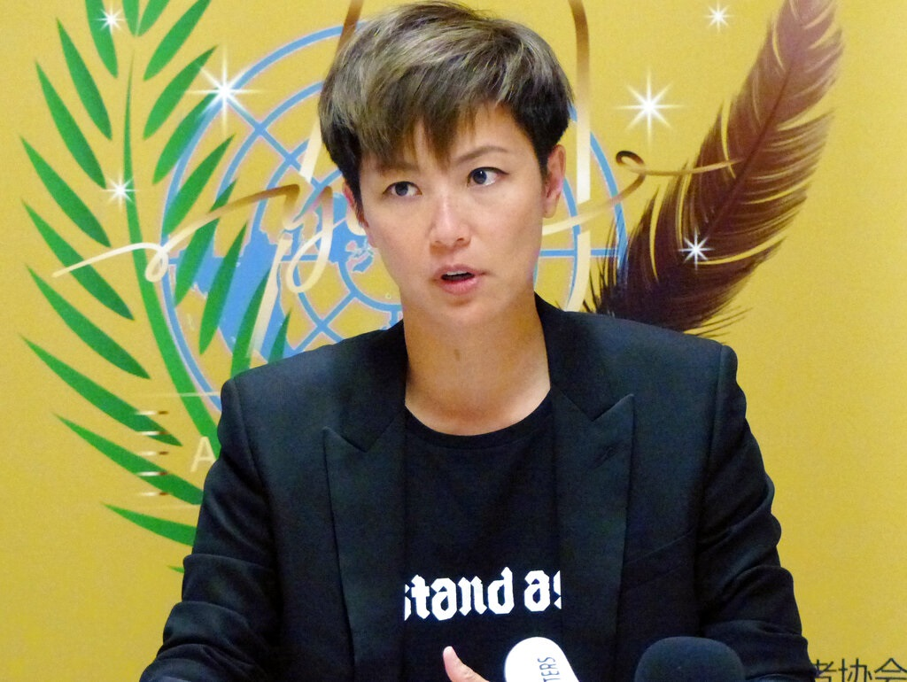 何韻詩要求將中國從人權會議中剔除。AP圖片