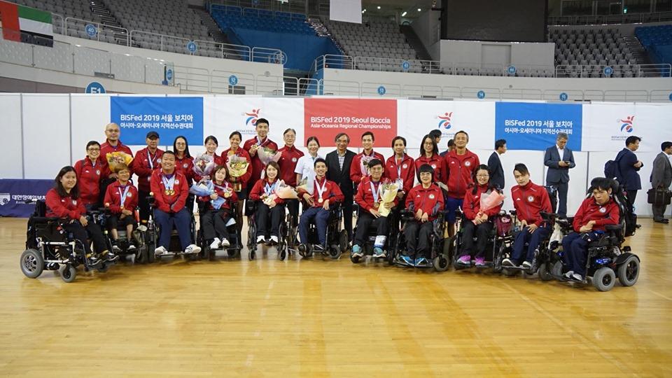 港隊合共以四金完成賽事。相片由香港殘疾人奧委會暨傷殘人士體育協會提供。