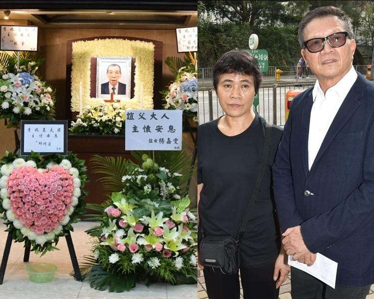 基嫂與陳慎芝到場打點基哥喪禮。