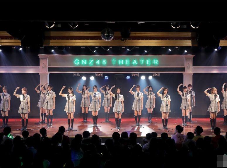 內地女子偶像團體 「GNZ48」。GNZ48微博圖片