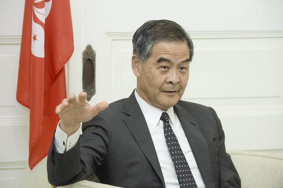 前行政長官梁振英。資料圖片