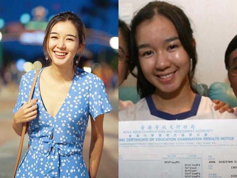 當年就讀拔萃女書院的麥明詩在香港中學會考取10優成績。 麥明詩 IG/網圖