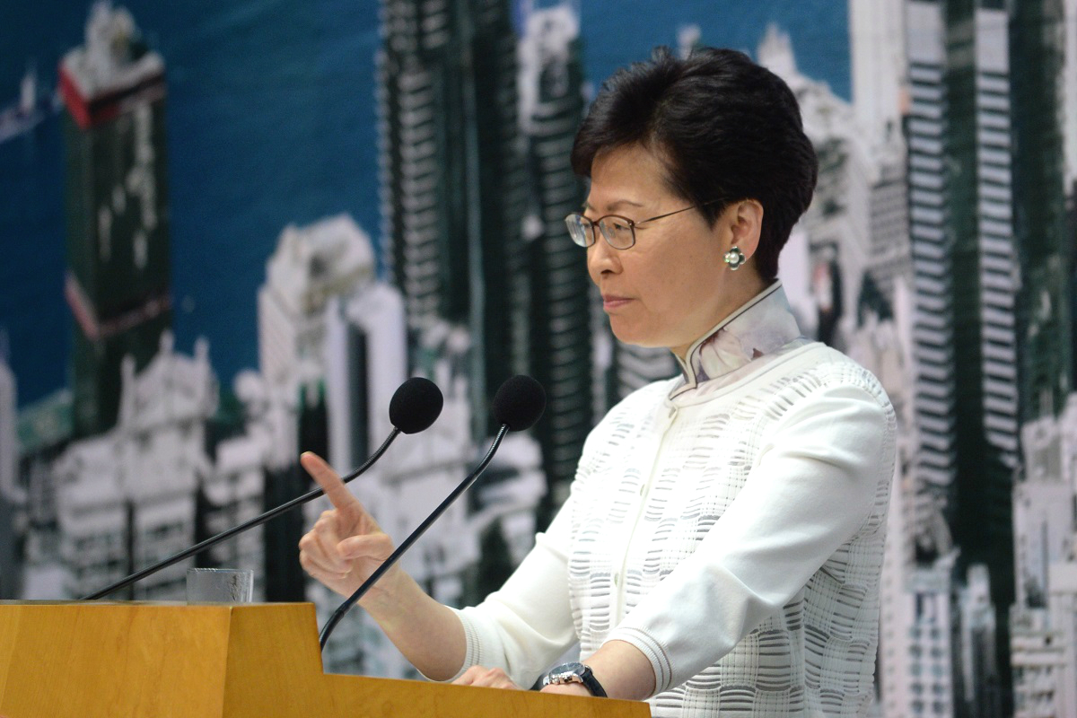 工會促行政長官林鄭月娥捍衛新聞自由。資料圖片