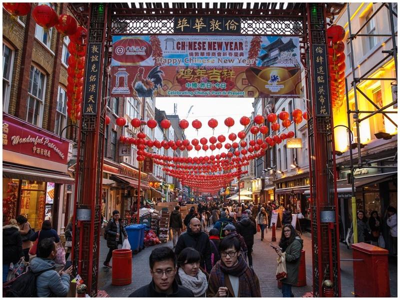 倫敦唐人街。網圖