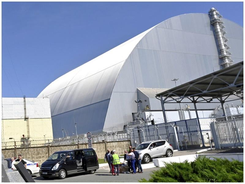 切爾諾貝爾核電廠。AP