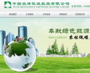 【1069】中國農林低碳股價挫55.31%