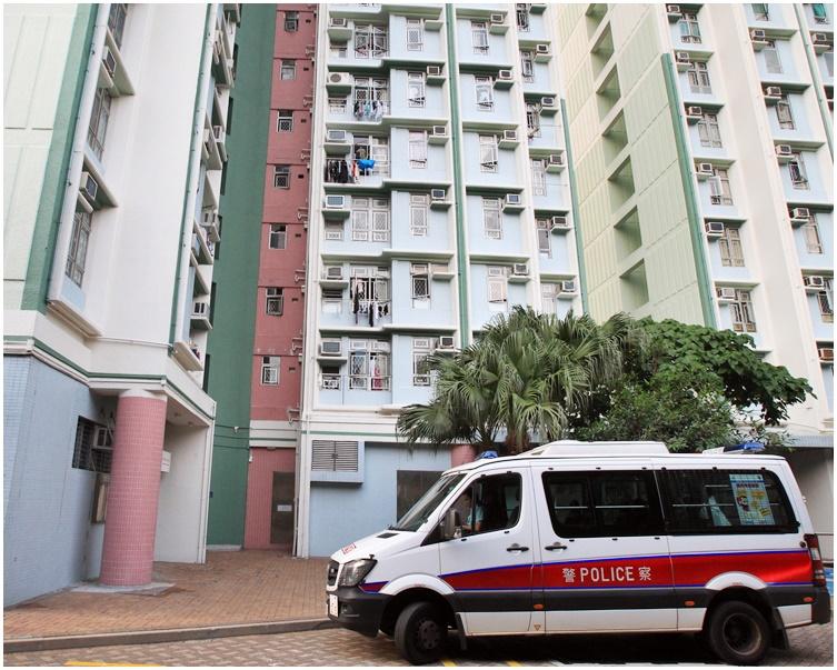 男子於逸東邨被捕。資料圖片