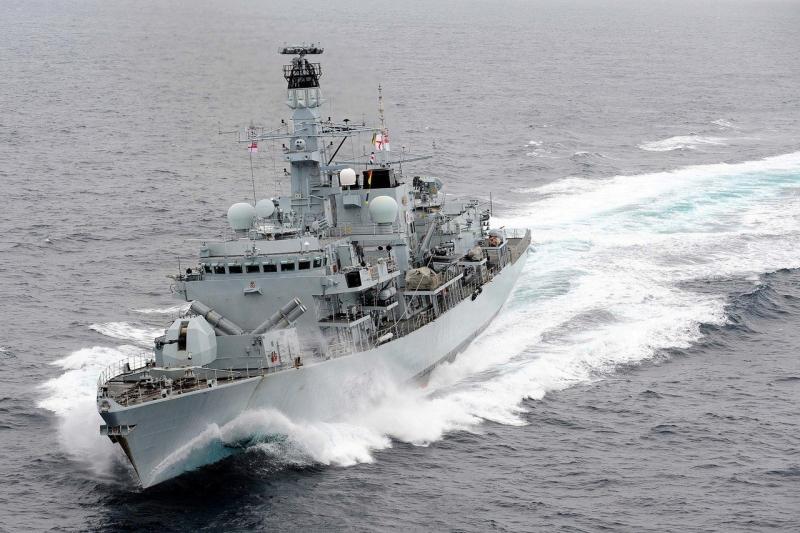英國巡防艦蒙特羅斯號在地中海巡航。(資料圖片)
