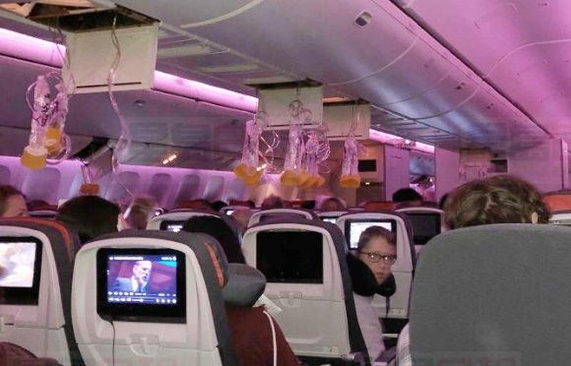 加航多伦多经温哥华飞悉尼客机遇气流急降檀香山,35人伤。(网图)