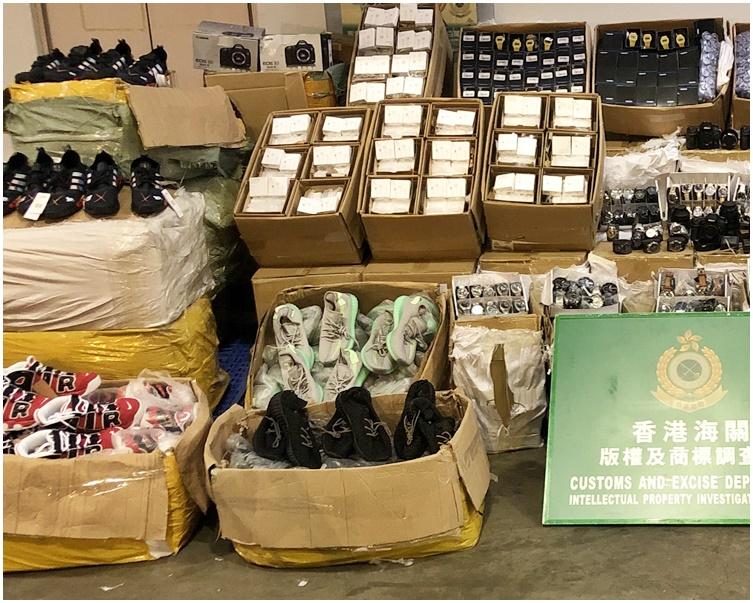 檢獲的約6600件懷疑冒牌物品,估計市值約60萬元。