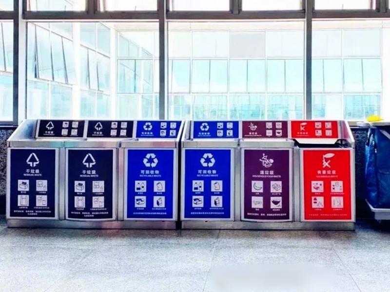 被稱為「史上最嚴格」的垃圾分類已在上海實施一周,市民叫外賣的習慣亦隨之改變。網圖